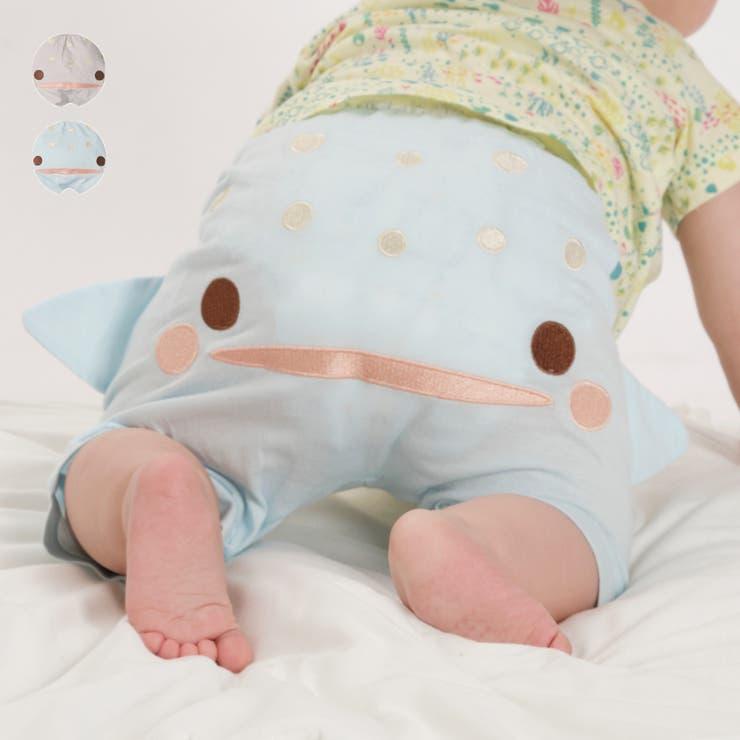 【子供服】kid´szoo(キッズズー)ジンベイザメハーフパンツ70cm~90cmW35111 | 詳細画像