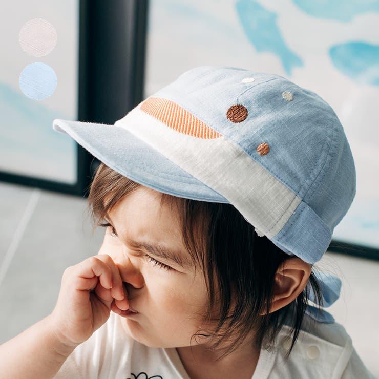 【子供服】kid´szoo(キッズズー)日よけたれ付きジンベイザメキャップ・帽子46cm,48cmW35401 | 詳細画像