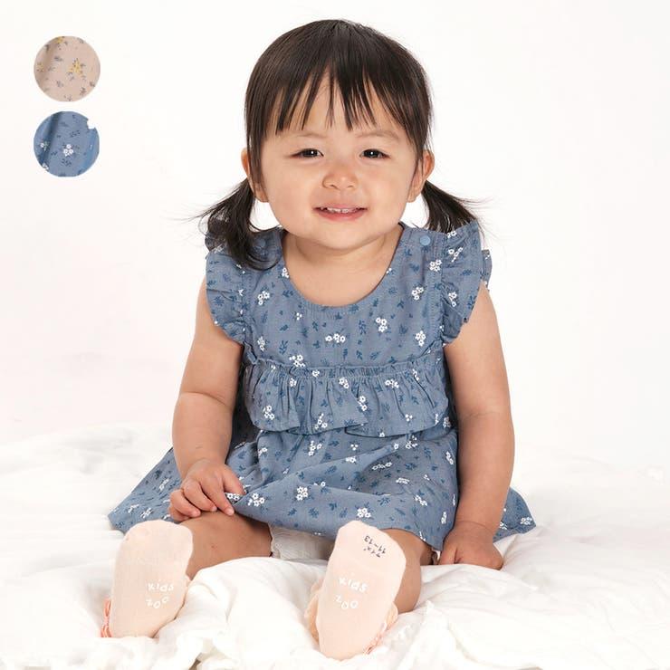 【子供服】kid´szoo(キッズズー)小花柄チュニック+パンツセット70cm~90cmW44713 | 詳細画像