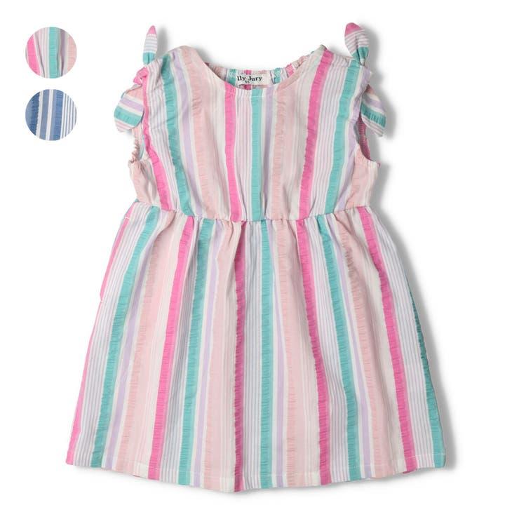 【子供服】JollyJury(ジョリージュリー)ストライプワンピース80cm~130cmZ44302 | 詳細画像