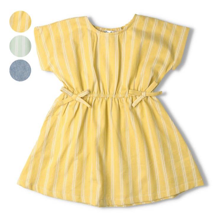 【子供服】JollyJury(ジョリージュリー)ストライプ・無地ワンピース80cm~130cmZ44303 | 詳細画像