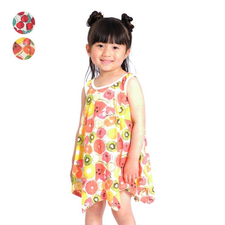 【子供服】JollyJury(ジョリージュリー)さくらんぼ・フルーツ柄ワンピース80cm~130cmZ44315 | 詳細画像