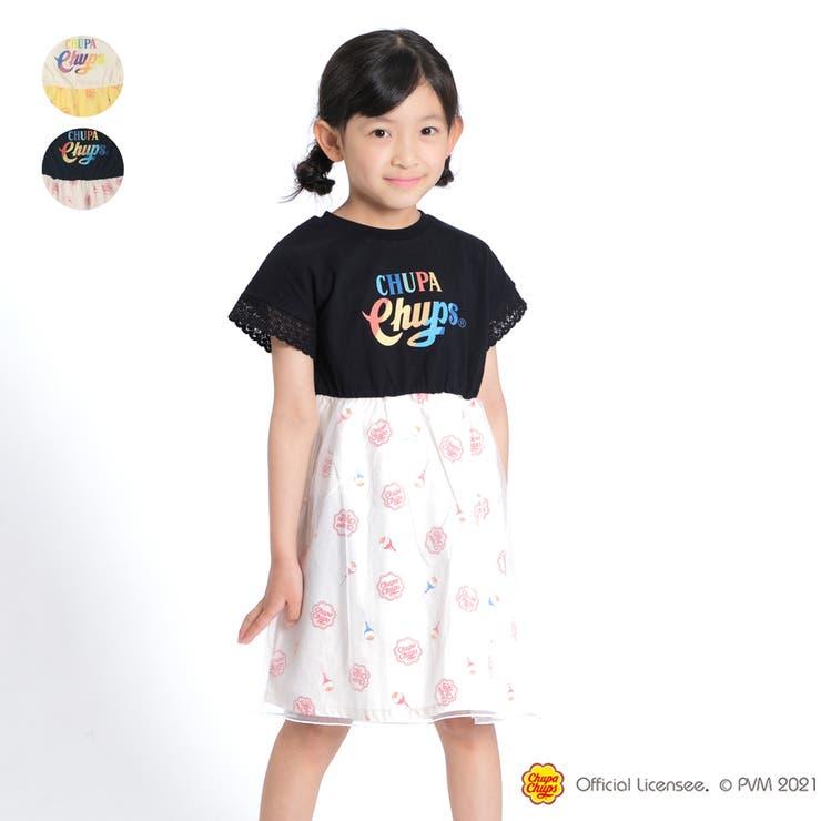 【子供服】WILLMERY(ウィルメリー)チュッパチャプスロゴプリント切替ワンピース100cm~130cmZ44341 | 詳細画像