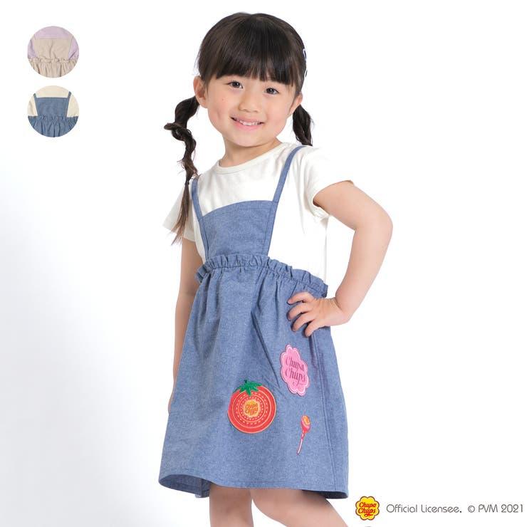 【子供服】WILLMERY(ウィルメリー)チュッパチャプスワッペンエプロン風ワンピース100cm~130cmZ44342   詳細画像