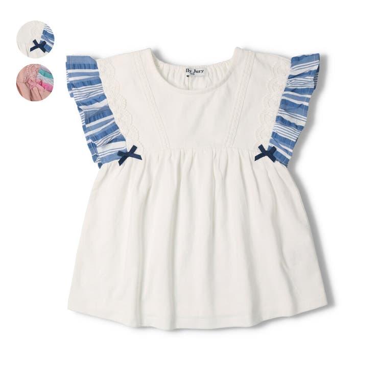 【子供服】JollyJury(ジョリージュリー)袖ストライプTシャツ80cm~130cmZ44802 | 詳細画像