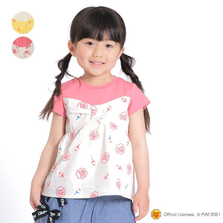 【子供服】WILLMERY(ウィルメリー)チュッパチャプス切替Tシャツ100cm~130cmZ44827 | 詳細画像
