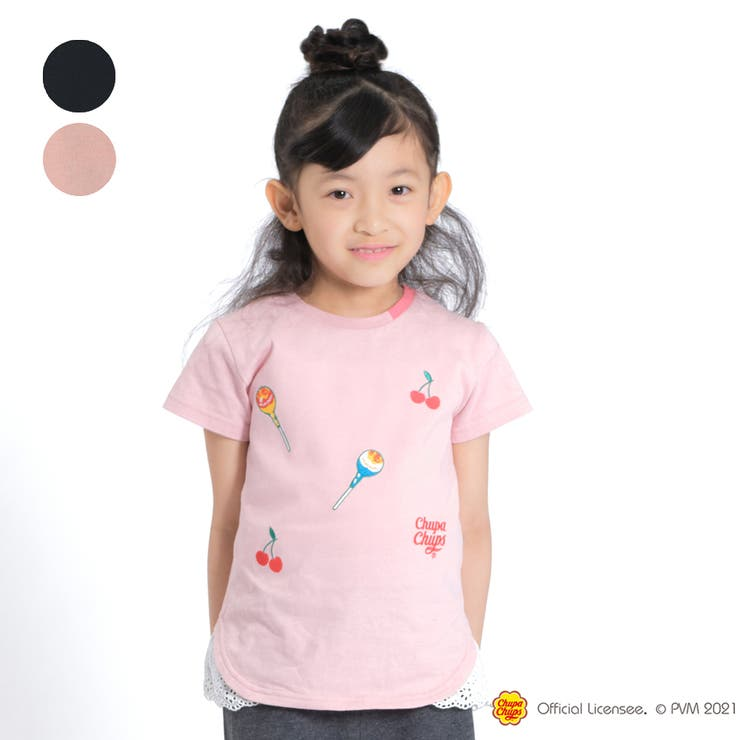【子供服】WILLMERY(ウィルメリー)チュッパチャプス刺繍Tシャツ100cm~130cmZ44831 | 詳細画像