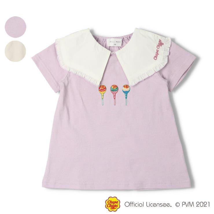 【子供服】WILLMERY(ウィルメリー)チュッパチャプスビック衿Tシャツ100cm~130cmZ44832 | 詳細画像