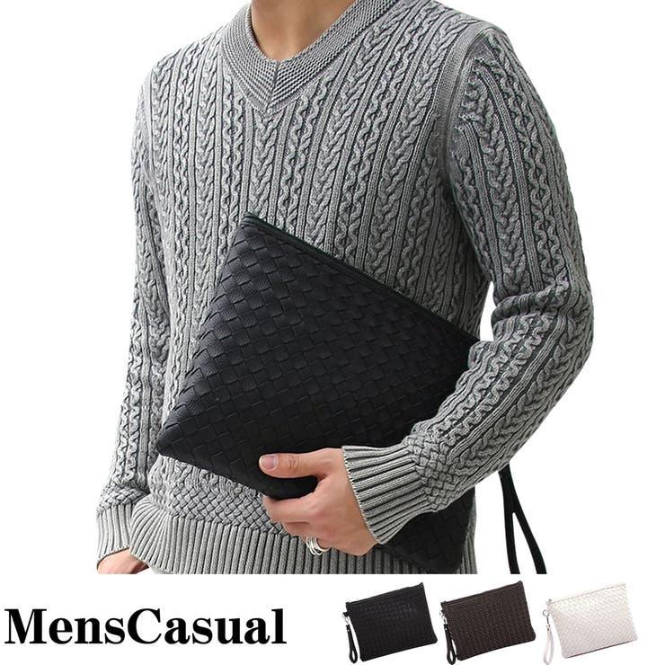 クラッチバッグ メンズ セカンドバッグ 2WAY メンズクラッチバッグ 編みこみ メッシュ 編み込み バッグ カバン かばん 鞄 小物 メンズカジュアル 通販 新作 | 詳細画像