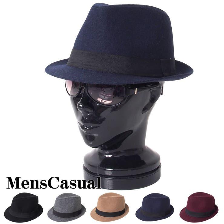 ハット メンズ メルトンハット 中折れハット 中折れ帽 帽子 無地 秋冬 ファッション小物 メンズカジュアル 男性用 通販 新作