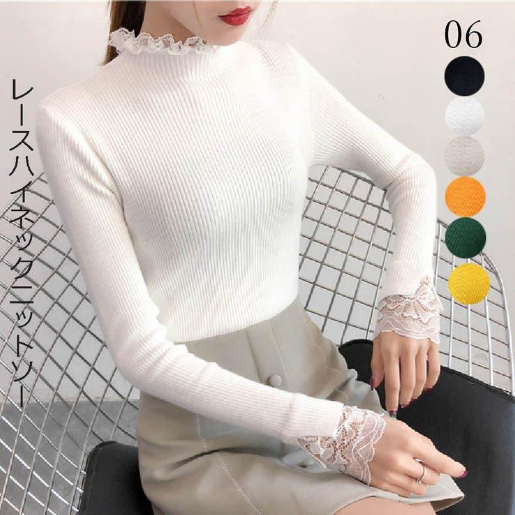 ニットトップス 春秋冬 ニットセーター   Miniministore   詳細画像1