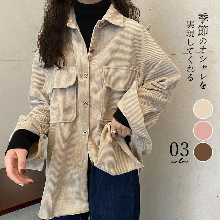 コーデュロイシャツ レディース 韓国   Miniministore   詳細画像1