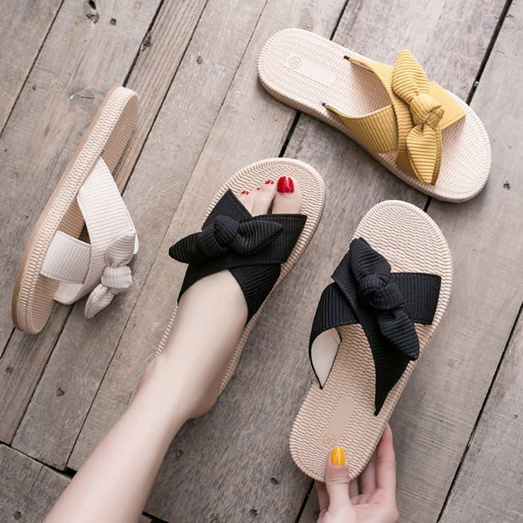 サンダル レディース おしゃれ ぺたんこ フラット 歩きやすい 履きやすい   Miniministore   詳細画像1
