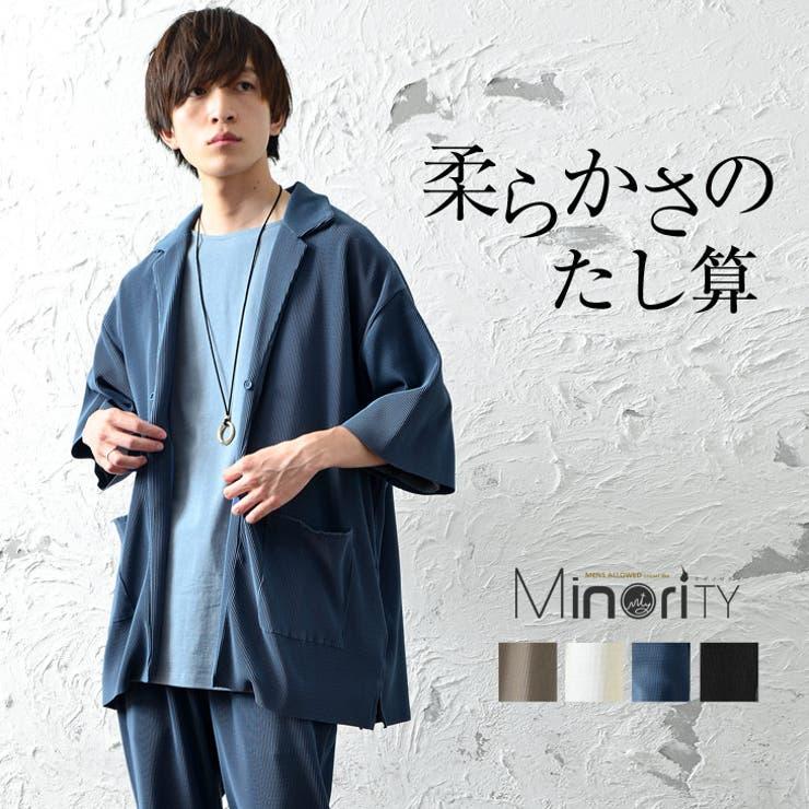 プリーツオープンカラーシャツ/5分袖   詳細画像