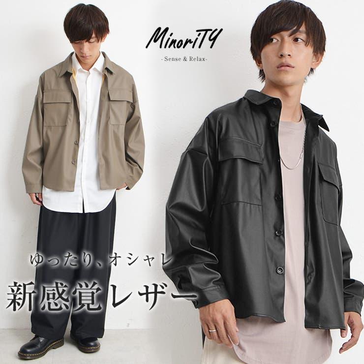 シャツジャケット メンズ レザージャケット | MinoriTY | 詳細画像1