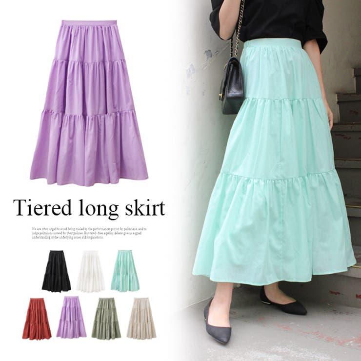 《》ティアードロングスカート ティアード スカート | MODE ROBE | 詳細画像1
