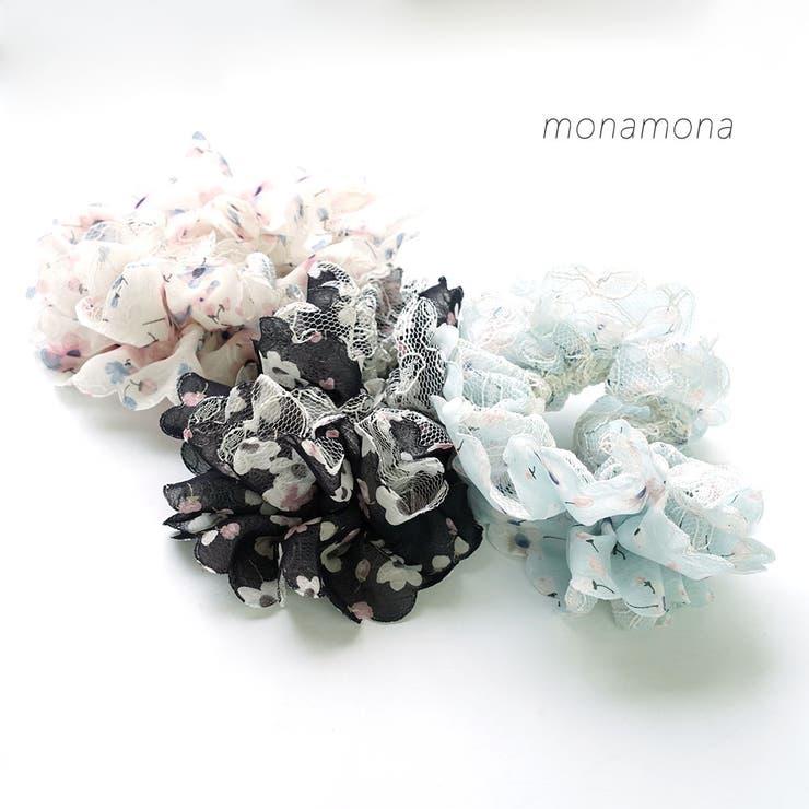 レース&小花プリントシュシュ | monamona | 詳細画像1