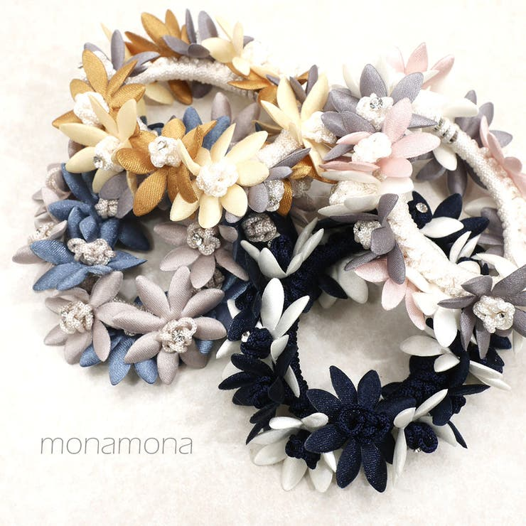 monamonaのヘアアクセサリー/シュシュ   詳細画像
