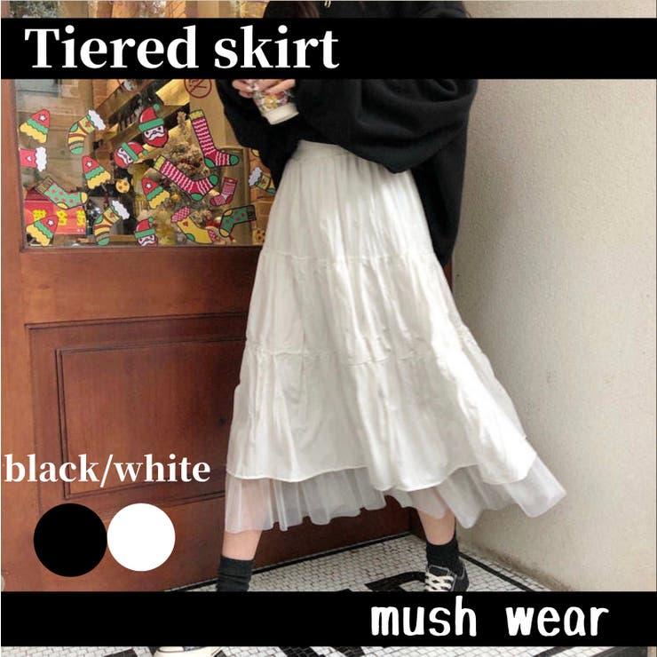 ティアードスカート B4701 | mushwear | 詳細画像1