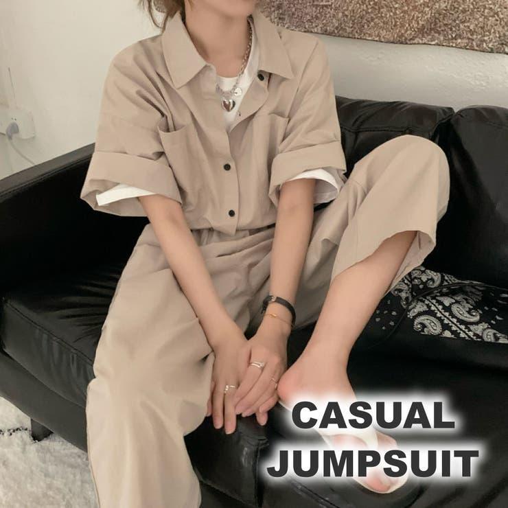 カジュアルジャンプスーツ OV5501 | mushwear | 詳細画像1