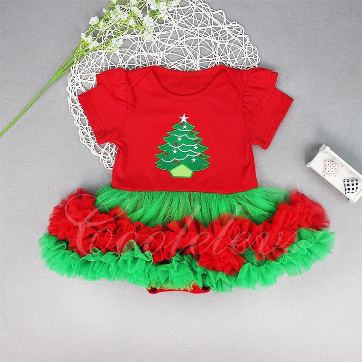 クリスマスドレスロンパース カバーオール 子供 | Cutie&Cutie | 詳細画像1