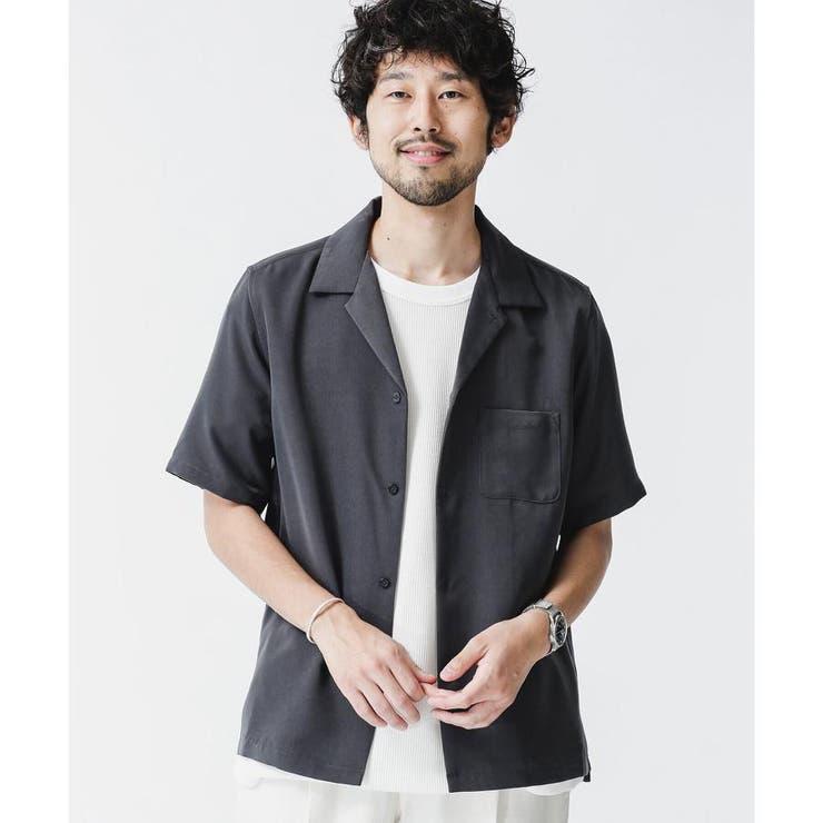 ドレープオープンカラーシャツ 半袖 | nano・universe | 詳細画像1