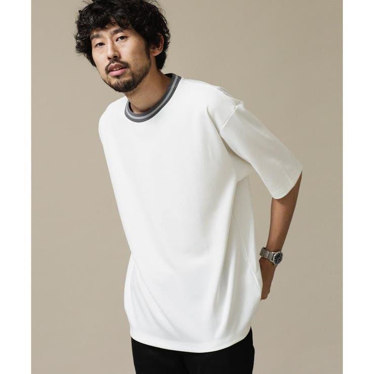 ポンチリンガークルーネックTシャツ   nano・universe   詳細画像1