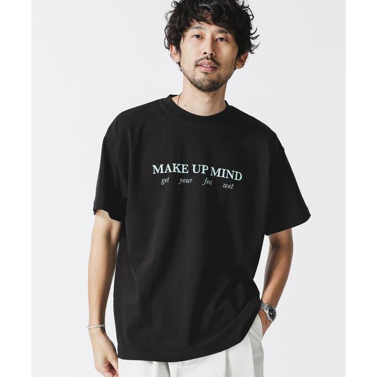 カラーロゴプリントクルーネックTシャツ | nano・universe | 詳細画像1