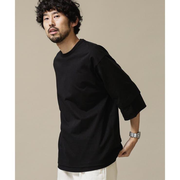 5/7分袖2パックレイヤードTシャツ   nano・universe   詳細画像1