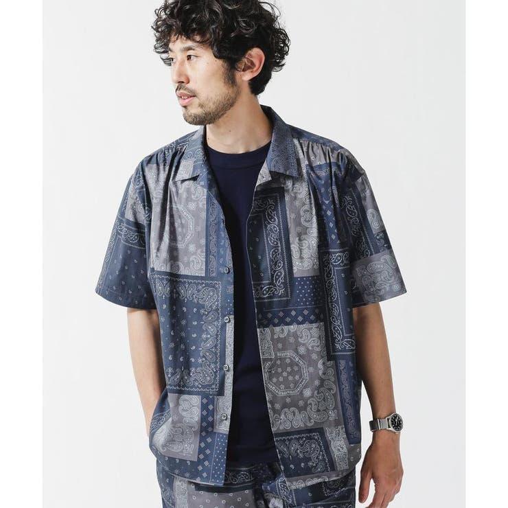 ELEPHANT BRAND/別注総柄ビッグシャツ/半袖 | nano・universe | 詳細画像1