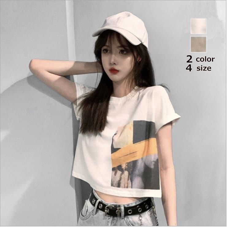 2色4サイズ!ゆったり Tシャツ プリント | NewImage | 詳細画像1