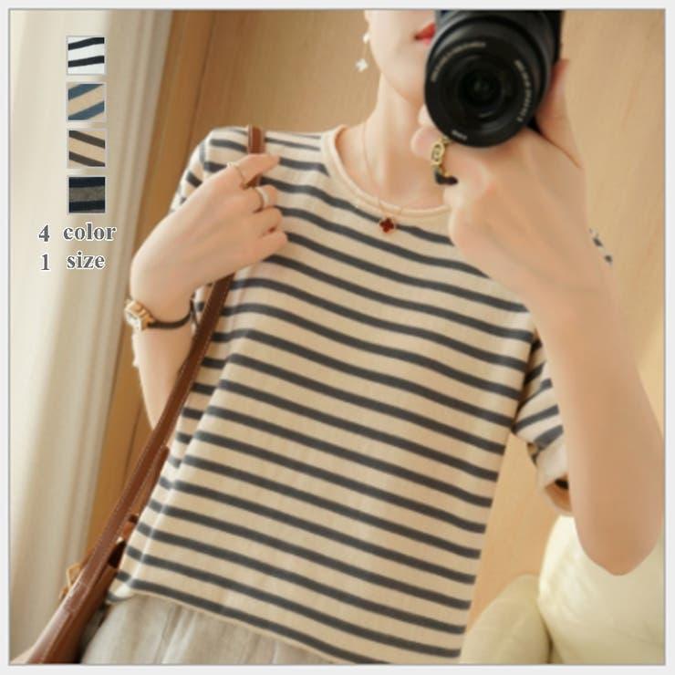 4色1サイズ!綿麻入り Tシャツ カットソー | NewImage | 詳細画像1