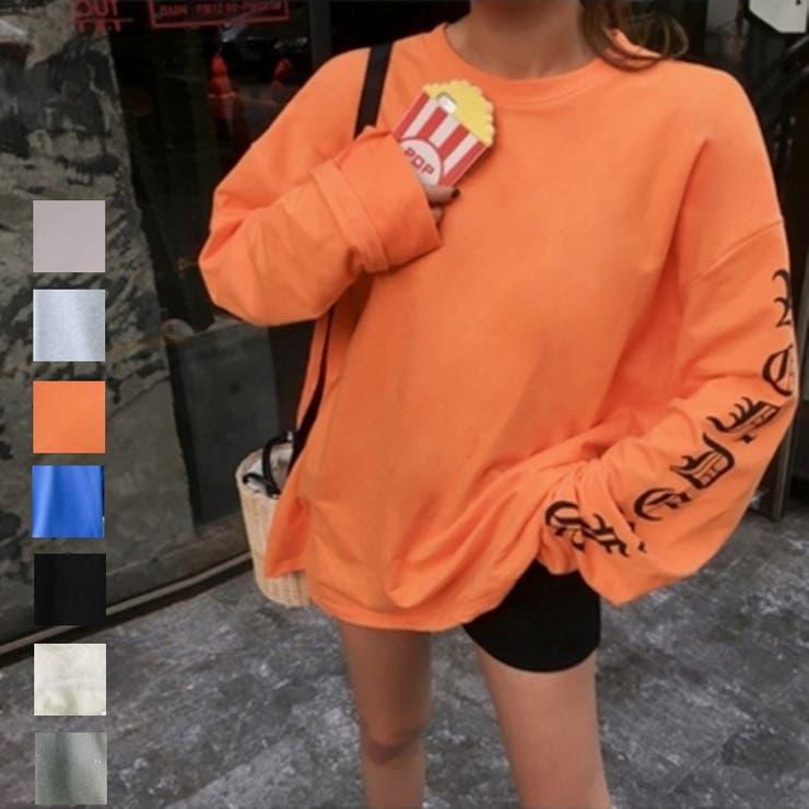 [新作★NewItem]新色登場!5色!レトロ風長袖シンプルゆったりTシャツチュニック/レディスファッション/レディース(詳細サイズをご確認ください!)【RCP】【smtb-m】