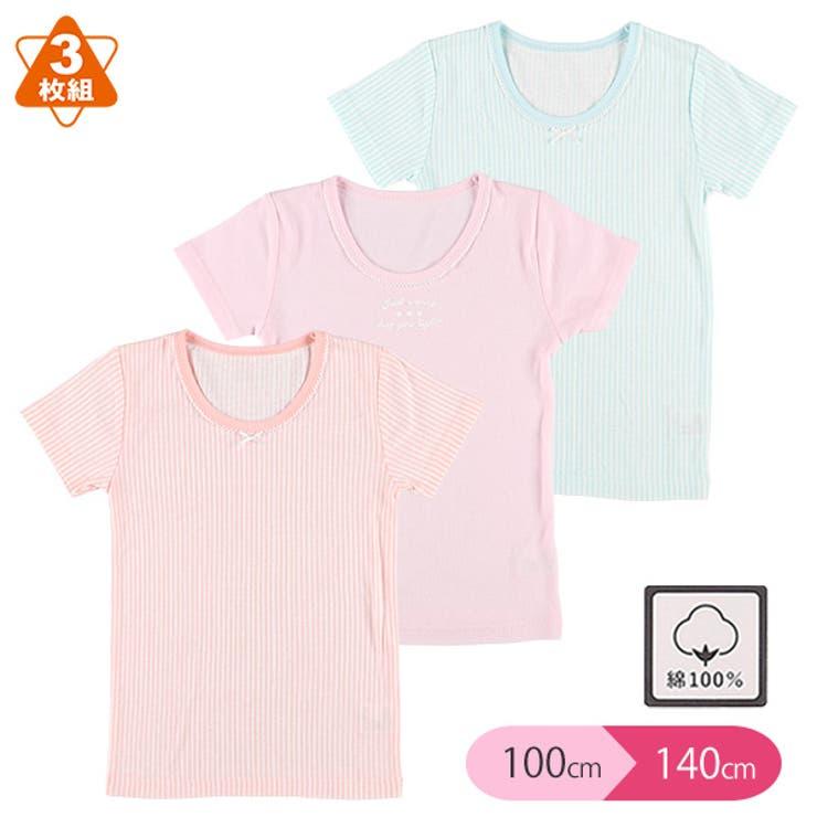3枚組半袖シャツ(ストライプ・英字) | 詳細画像