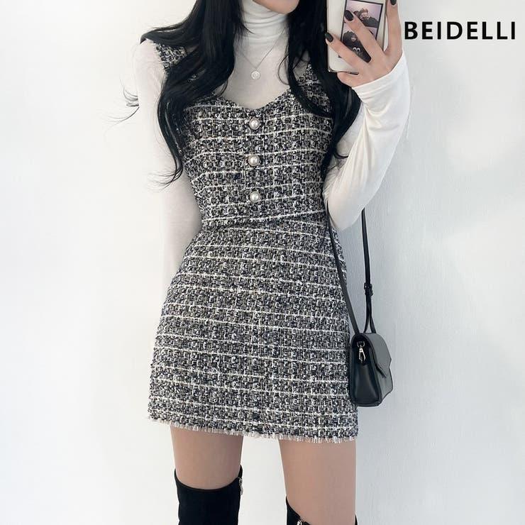Beidelli(ベイデリ)ツイードビスチェ+スカートセット   3rd Spring   詳細画像1