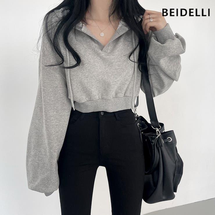 Beidelli(ベイデリ)Vネッククロップフーディ   3rd Spring   詳細画像1