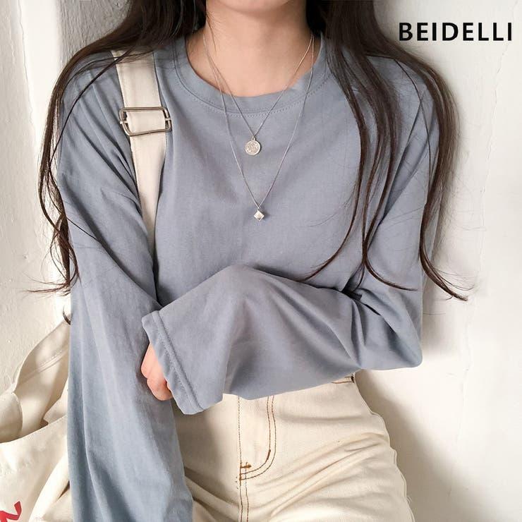 Beidelli(ベイデリ)ラウンドネックデイリー長袖Tシャツ | 3rd Spring | 詳細画像1
