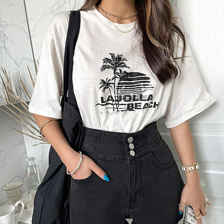 NANING9(ナンニング)LAJOLLA BEACH プリントTシャツ | 3rd Spring | 詳細画像1