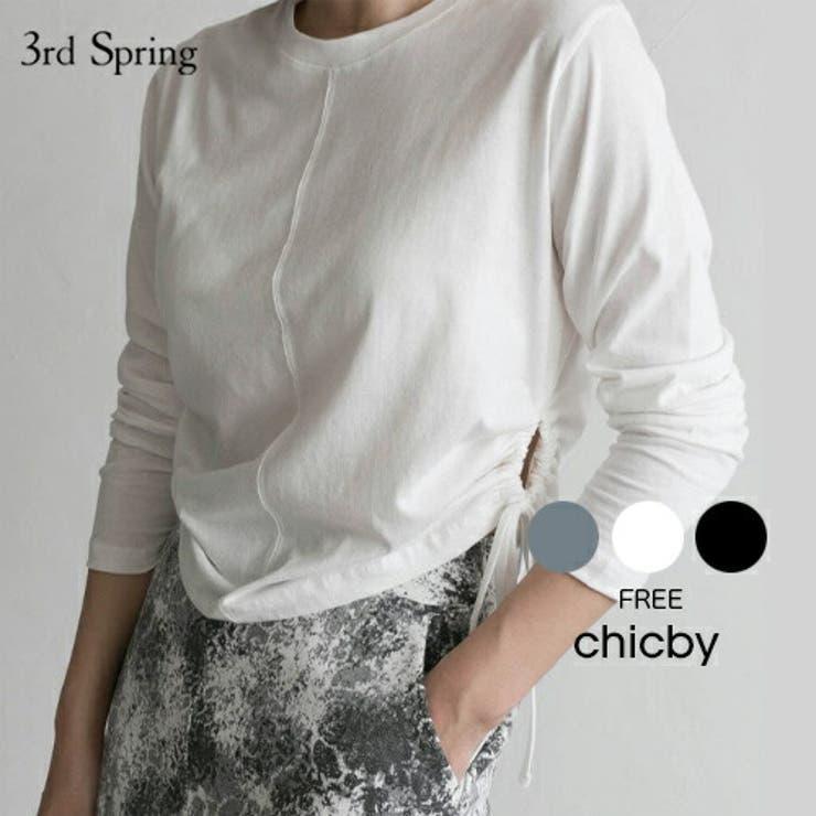 CHICBYサイドシャーリングTシャツ韓国 韓国ファッション 長袖   3rd Spring   詳細画像1