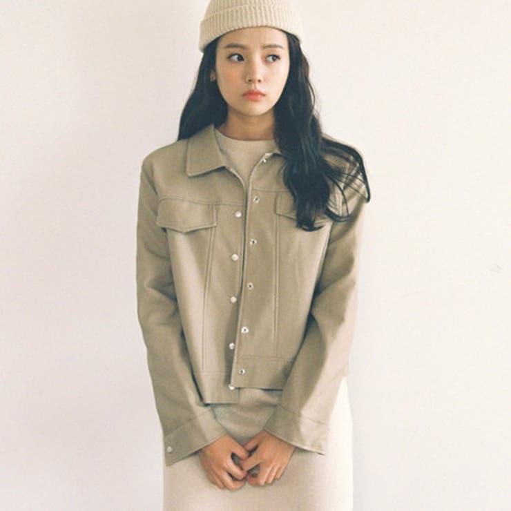 CHERRYKOKO(チェリーココ)skinrider,jacket韓国韓国ファッションレザージャケット黒ジャケット秋アウターエコレザーライトアウターカジュアル大人カジュアルレディースファッション   詳細画像