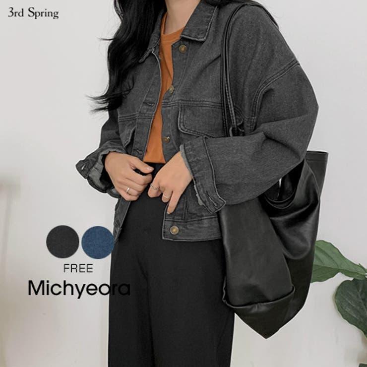 MICHYEORA(ミチョラ)デニムショートジャケット韓国韓国ファッションジャケットGジャンショートジャケットライトアウターデニムジャケット   詳細画像
