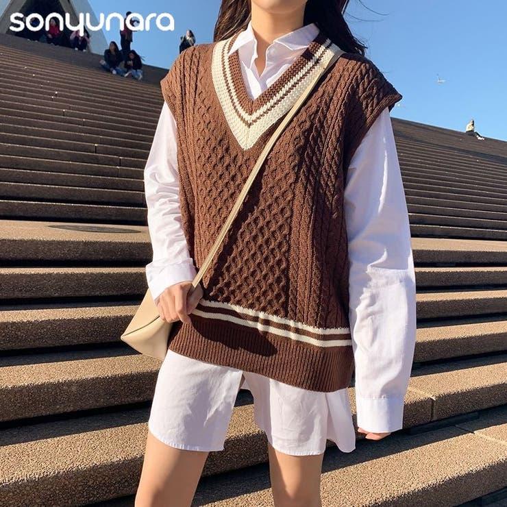 SONYUNARA(ソニョナラ)マイティニットベスト    3rd Spring   詳細画像1