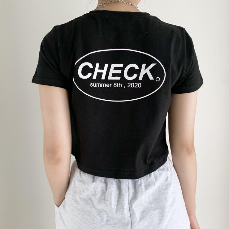 SONYUNARA(ソニョナラ)CHEAK英文クロップ半袖Tシャツ | 3rd Spring | 詳細画像1