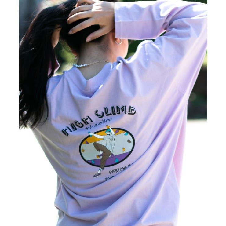 バックプリント ロングビッグTシャツ | Nylaus | 詳細画像1