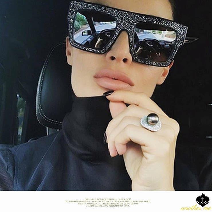 奇抜ファッション サングラス メガネ ウェリントン 紫外線カット UV400 | another me | 詳細画像1