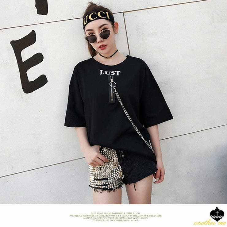 Tシャツ レディース トップスチェーン カットソー   another me   詳細画像1
