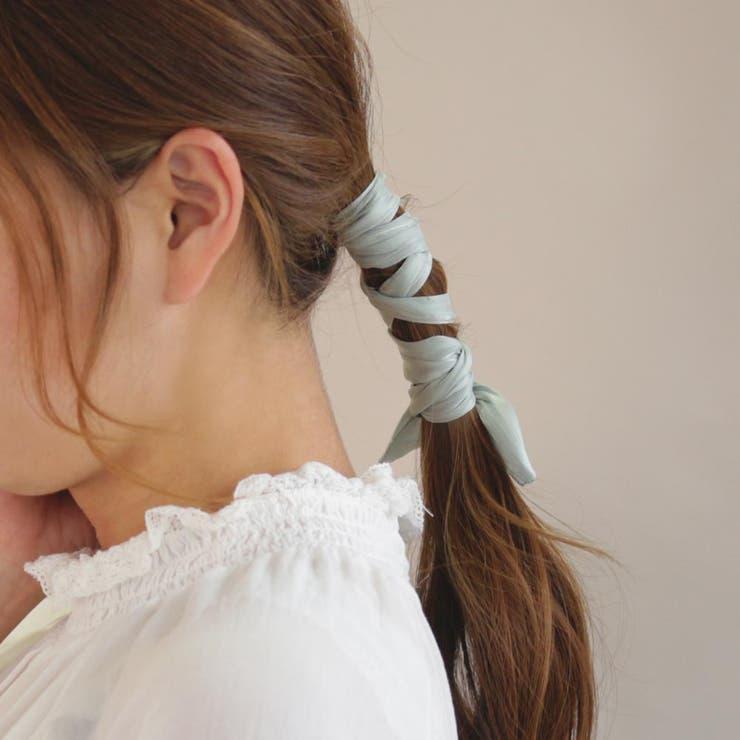 ワイヤーポニー シフォン くすみカラー ヘアポニー   osewaya   詳細画像1