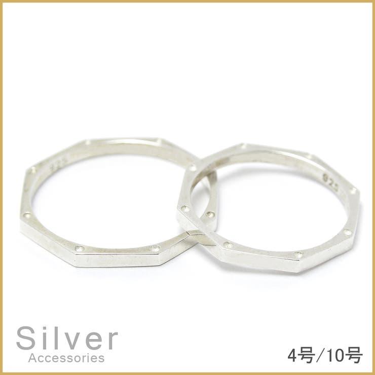 【SILVER】オクタゴンリングリング りんぐ 指輪 ゆびわ シルバーリング silver シルバー925