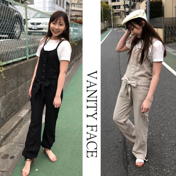 2WAY麻入りコンビネゾンⒶ オールインワン パンツドレス | VANITY FACE | 詳細画像1