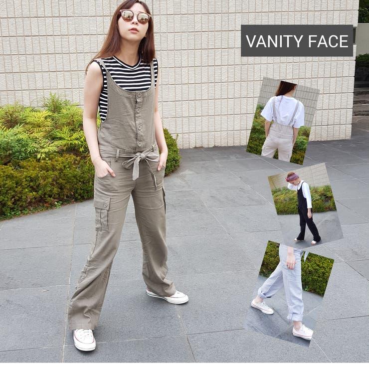 2WAY麻入りコンビネゾンⒷ オールインワン パンツドレス | VANITY FACE | 詳細画像1